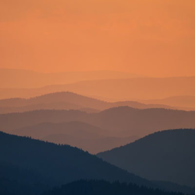 Sunset over the Rhodopes